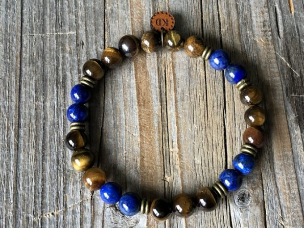 gemstone beaded men bracelet