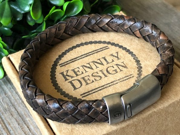 Brown leather jewelry