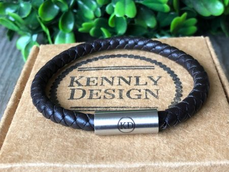 Leather kids bracelet