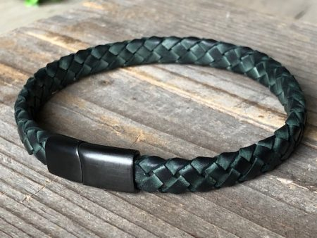 green braided bracelet